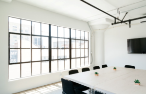 A huge white meeting room