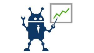 Robo-advisor analyzing graph